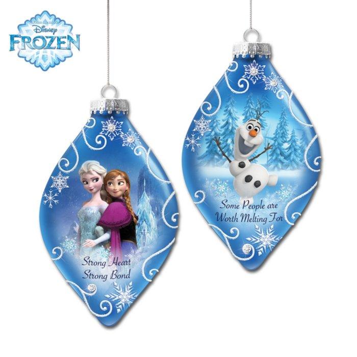 Frozen Christmas.Disney Frozen Ornaments Set Two