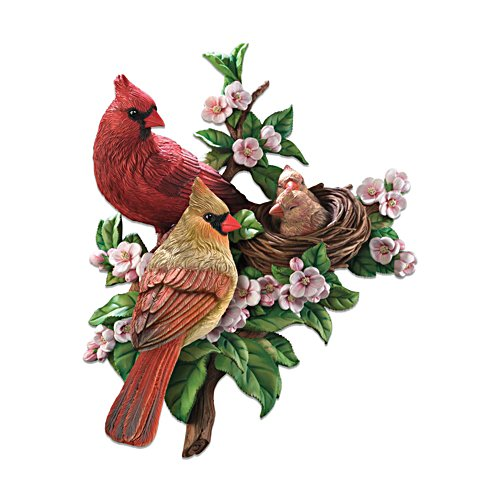 'Cosy Cardinals' Bird Wall Décor