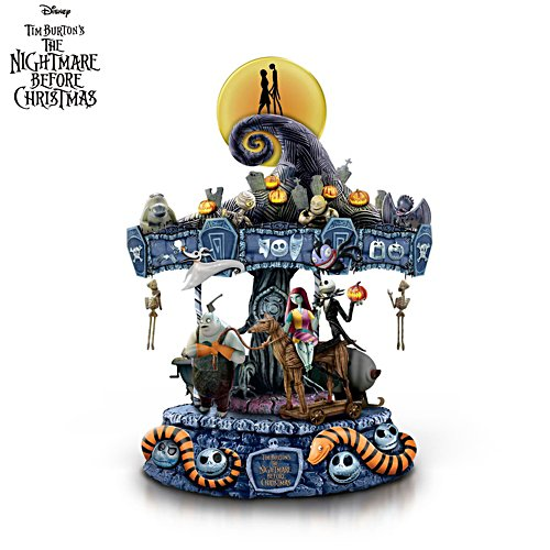 Disney Tim Burton 'The Nightmare Before Christmas' Illuminated Musical Carousel