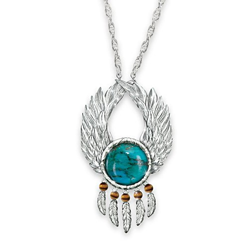 'Let Your Dreams Soar' Turquoise Pendant