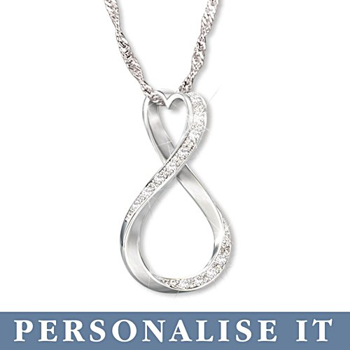 Unsere Liebe ist für immer – Personalisierter Diamantanhänger