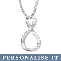 'Forever Our Love' Personalised Diamond Pendant