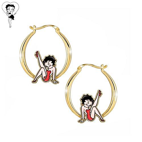 Betty Boop™ 'Kick Up Your Heels' Hoop Earrings