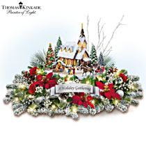Thomas Kinkade 'A Holiday Gathering' Table Centrepiece