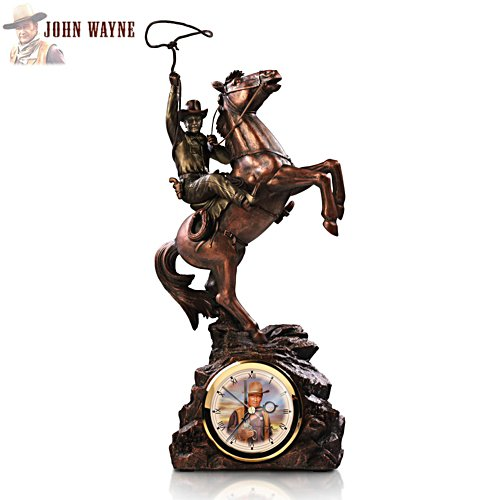 'Timeless Legend' John Wayne Clock