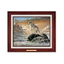 'Strength Of Spirit' Illuminated Wolf Canvas Print