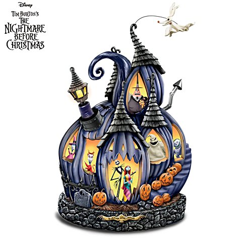 Disney Tim Burton 'The Nightmare Before Christmas' Pumpkin Sculpture