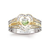 'Heart Of Ireland' Diamonesk® Claddagh Stacking Ring