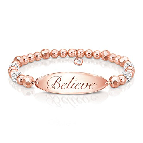'Believe' Copper Beaded Bracelet