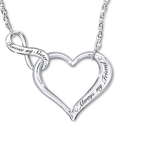 'My Sister, My Friend' Heart Ladies' Necklace