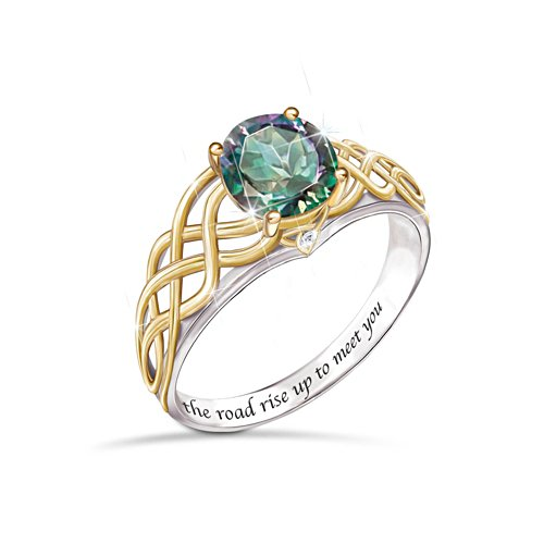 'For The Love Of Ireland' Mystic Topaz Ladies Ring
