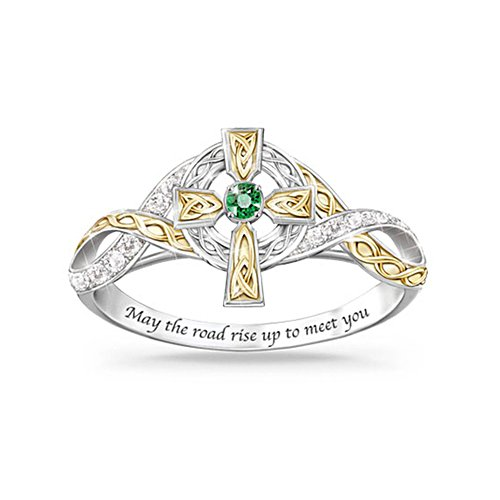 'Irish Blessing' Emerald And Diamond Ring