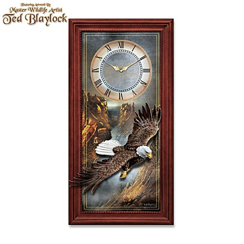 Ted Blaylock 'Majestic Flight' Bald Eagle Wall Clock