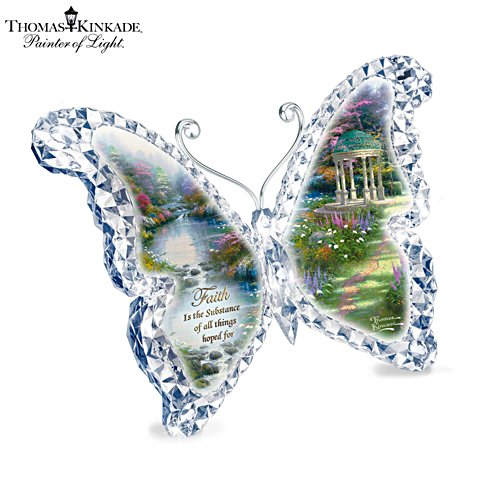 Thomas Kinkade 'Faith' Butterfly Sculpture