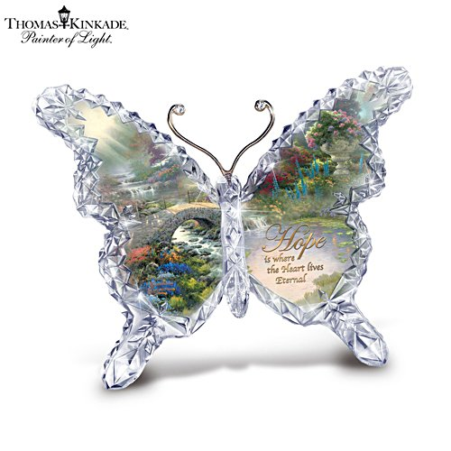 Thomas Kinkade 'Hope' Butterfly Crystalline Sculpture