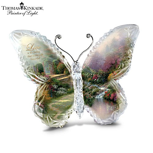Thomas Kinkade 'Love' Butterfly Crystalline Sculpture