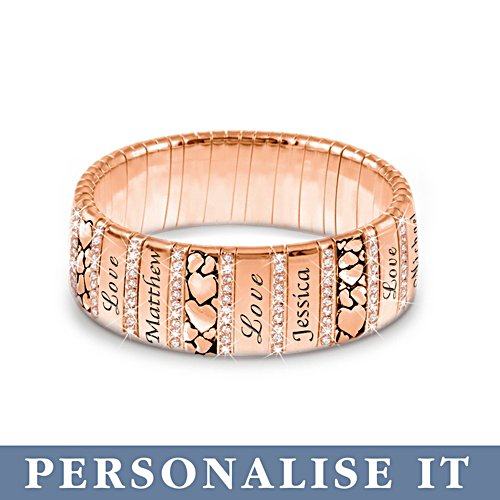 'Mum's Family Of Love' Personalised Copper Bracelet