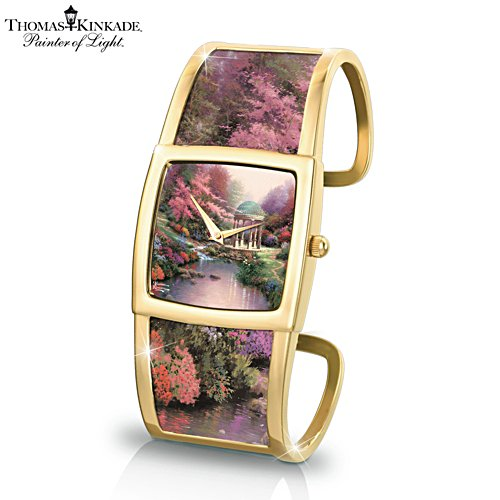 Thomas Kinkade 'Legacy Of Light' Ladies' Cuff Watch