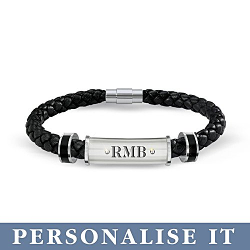 'My Son, My Pride, My Joy' Personalised Leather Bracelet