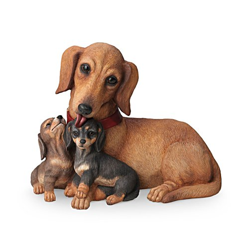 'Dachshund Kisses' Dog Sculpture