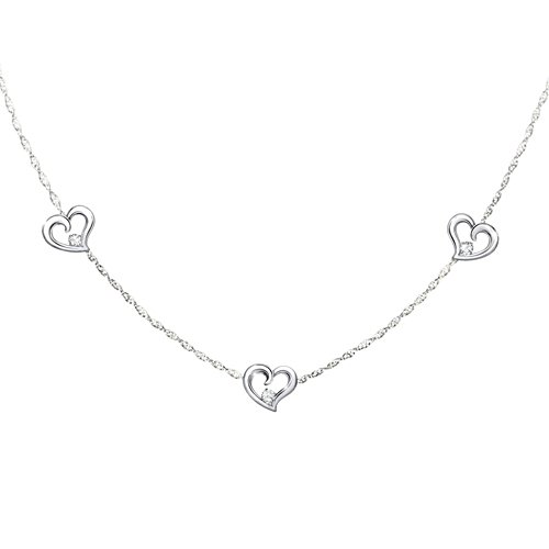 'Today, Tomorrow, Always' Granddaughter Diamond Necklace