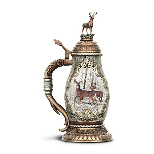 'Forest Monarch' Heirloom Porcelain® Stag Stein