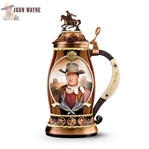 John Wayne 'Straight Shooter' Porcelain Stein