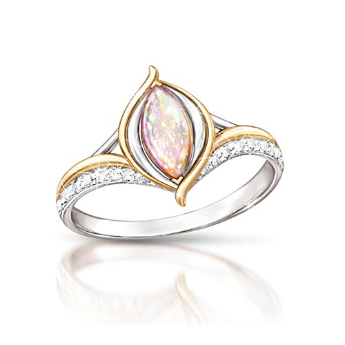 'World On Fire' Created Opal Ladies' Ring