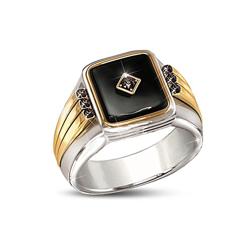 'Black Label' Onyx And Sapphire Men's Ring