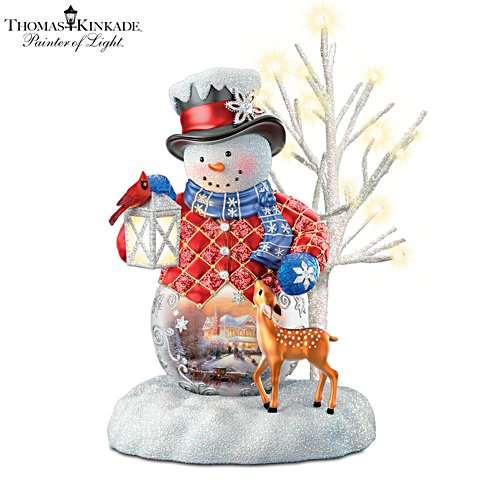 Thomas Kinkade 'Sharing The Season' Snowman Figurine