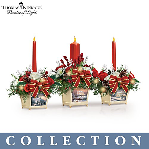 Thomas Kinkade 'Joy Of Holidays' Centrepiece Collection