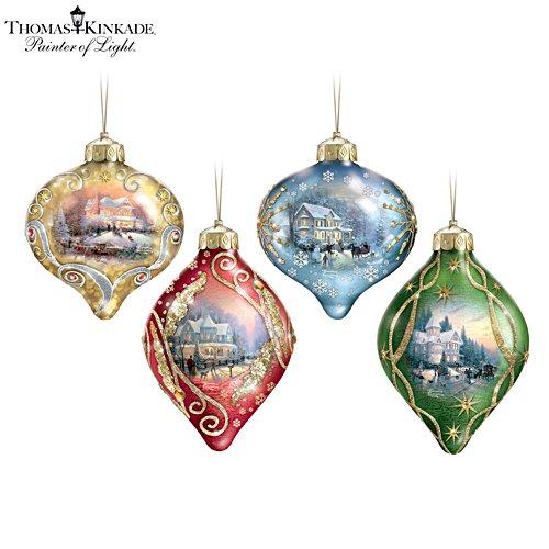 Thomas Kinkade 'Light Up The Season' Ornament Set