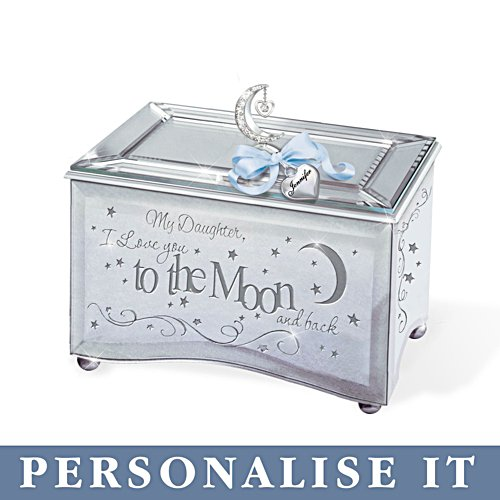 'My Daughter, I Love You To The Moon' Personalised Music Box