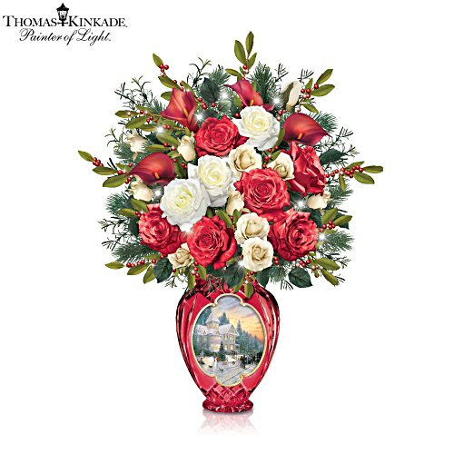 Thomas Kinkade 'Holiday Radiance' Floral Table Centrepiece