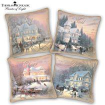 Thomas Kinkade 'Celebrate The Season' Pillow Collection