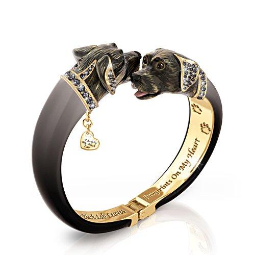 'Sophistipups' Black Labrador Bracelet