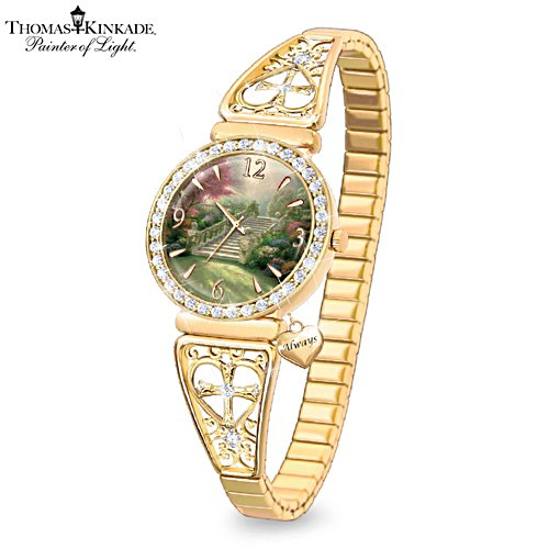 Thomas Kinkade 'Stairway To Paradise' Ladies Watch