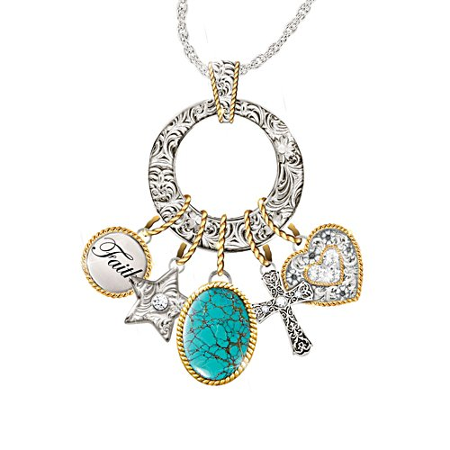 'Charmed Blessings' Turquoise Ladies' Pendant