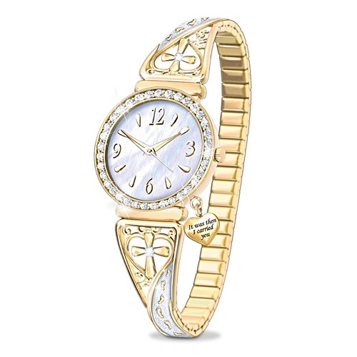 'Footprints Of Faith' Ladies Watch