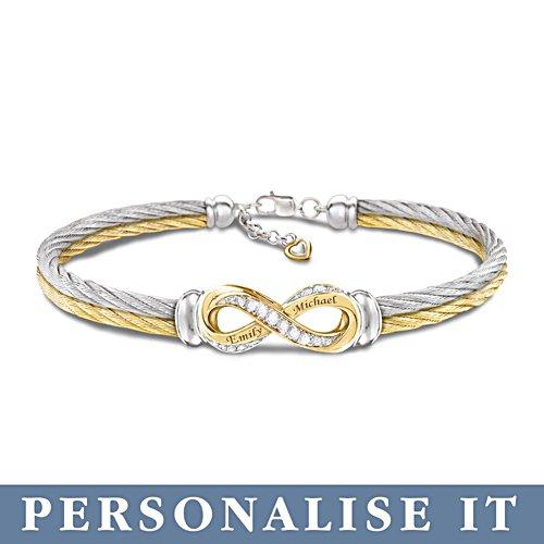 Eeuwige liefde – gepersonaliseerde armband