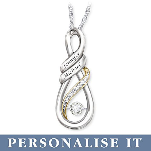 'I Love You' Personalised Diamond Pendant