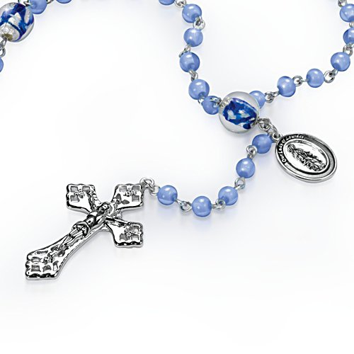 'Lady Of Lourdes' Artisan Glass Rosary