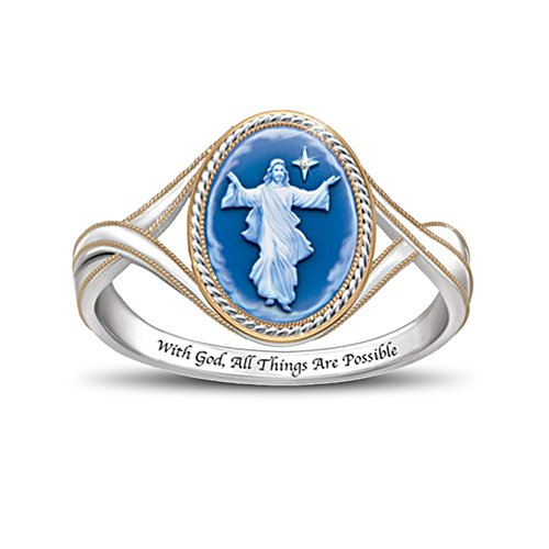 'Light Of The Lord' Jesus Cameo Ring