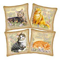 'Feline Philosophy' Cat Pillow Set