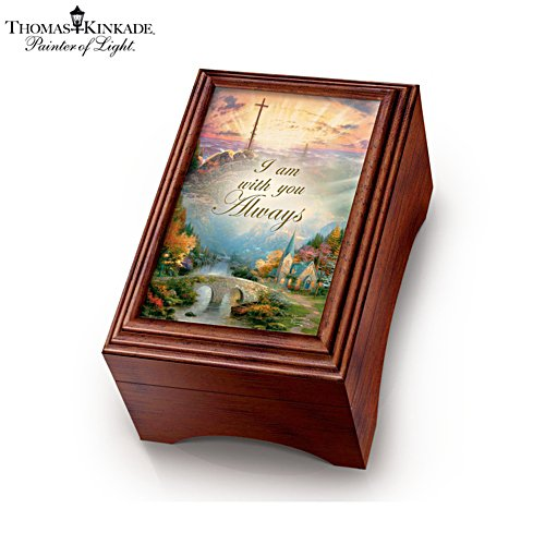 Thomas Kinkade 'Holy Land' Olive Wood Prayer Cross