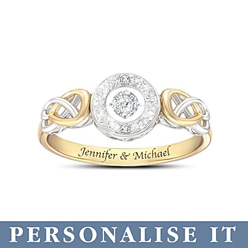 'Let Your Heart Dance' Personalised Diamond Ring