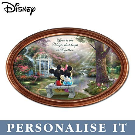 Disney 'The Magic Of Love' Personalised Collector Plate
