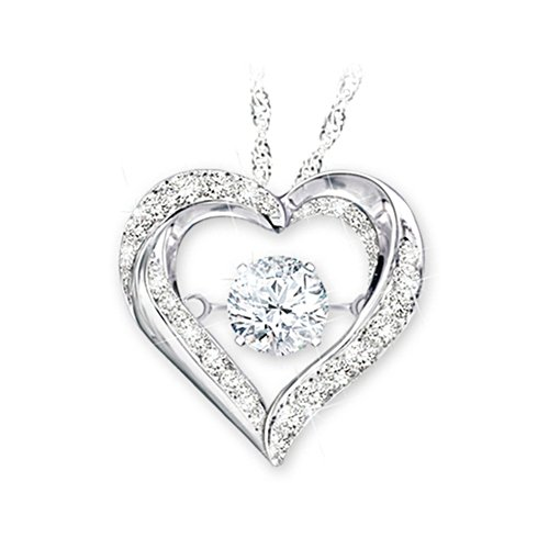 'Always In My Heart' Brilliant Motions™ Granddaughter Topaz Pendant