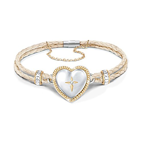 'Bless And Keep My Granddaughter' Diamond Bracelet