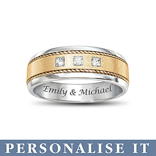 'Timeless Love' Personalised Diamond Men's Ring